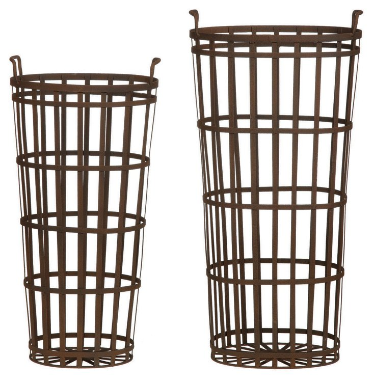 Asst. of 2 Tall Metal Baskets