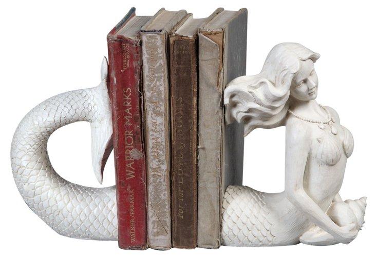 Pair of Mermaid Bookends