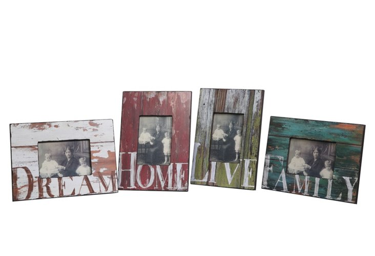 "Asst. of 4 13"" Worded Photo Frames"