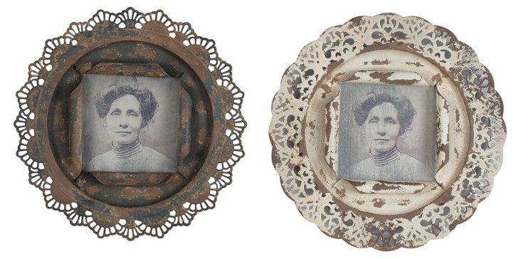 Asst. of 2 Vintaged Metal 5x5 Frames