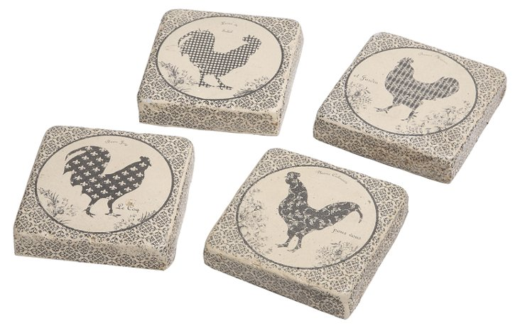 Rooster Coasters, Asst. of 4