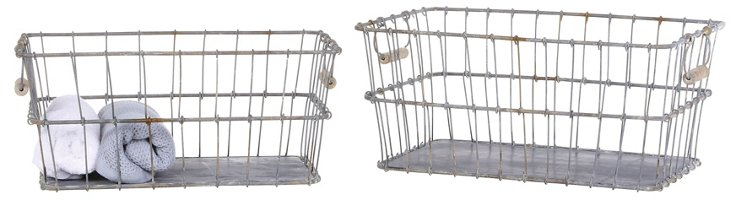 S/2 Tin Wire Baskets