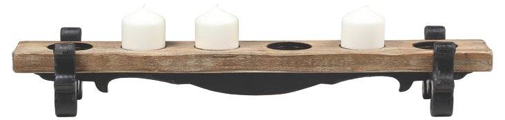 "34"" Six-Cup Votive Holder, Brown"