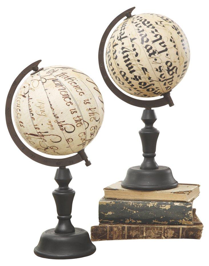 Heirloom Globes, Asst. of 2