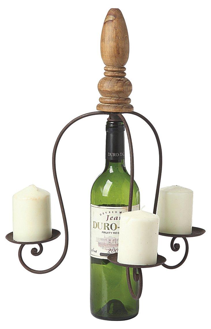 Bottle-Stopper Pillar Holder