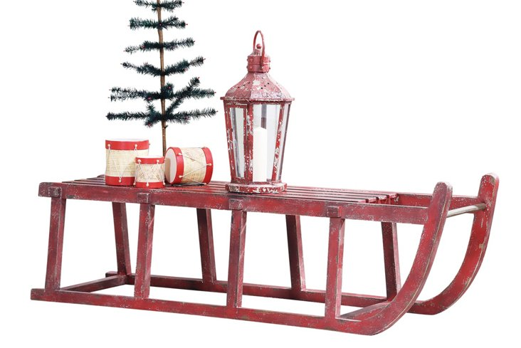 Holiday Wooden Sled