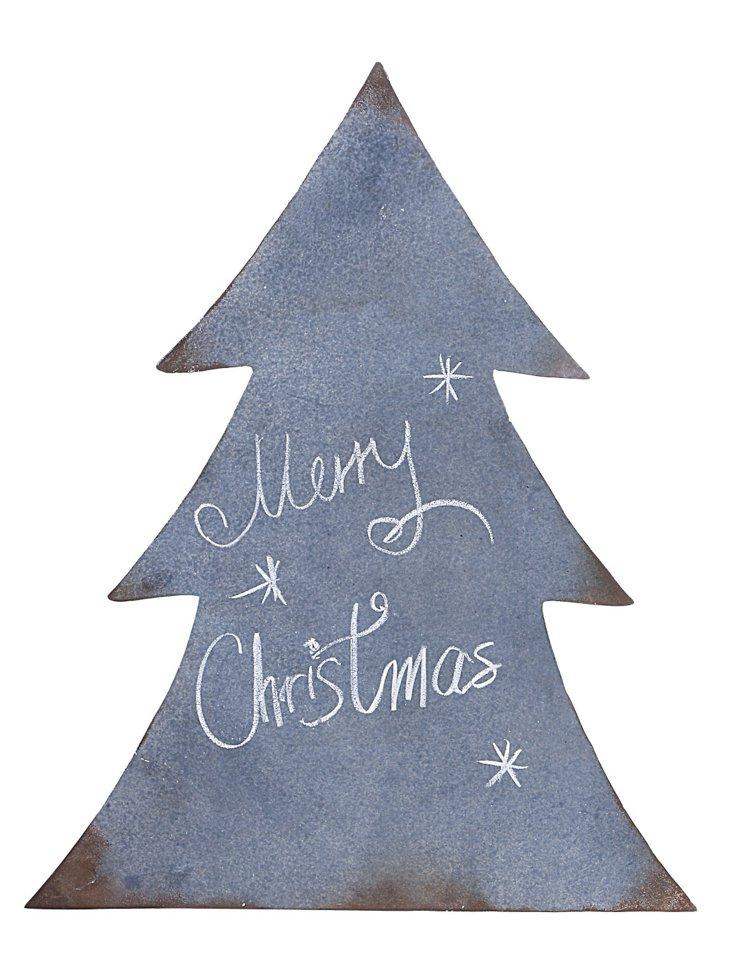 Metal Christmas Tree Wall Hanging