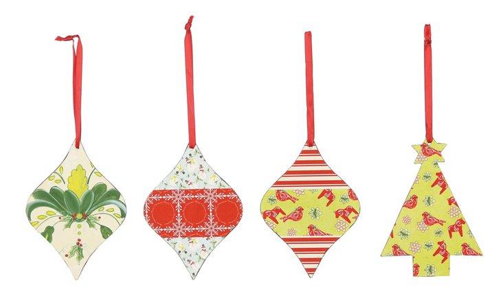 Tin Ornaments, Asst. of 4