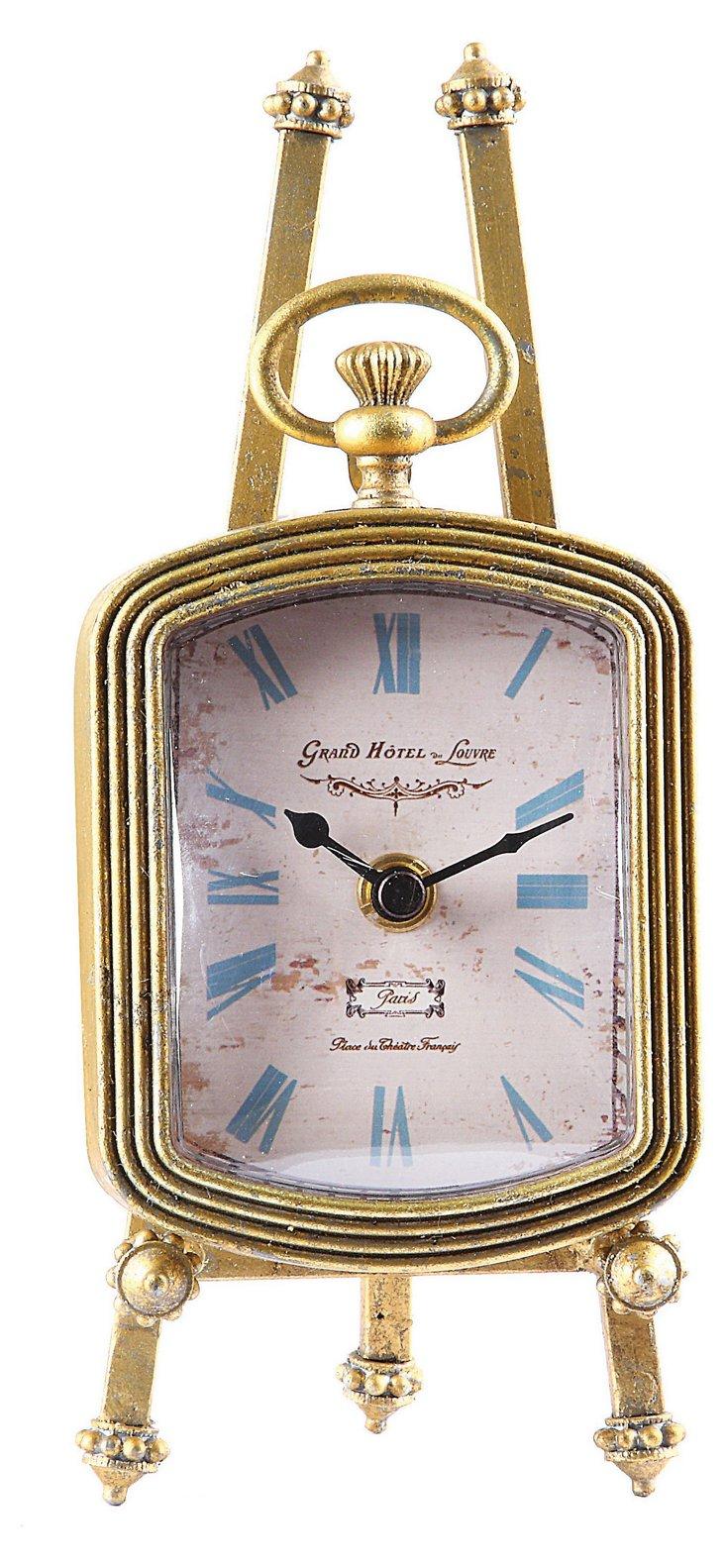 "9"" Zinc Clock w/ Easel"
