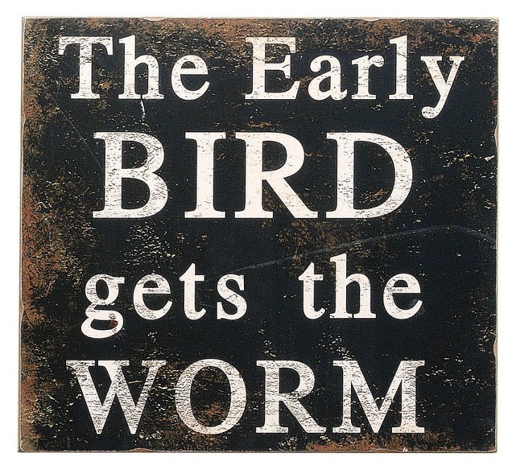 """""""The Early Bird"""" Wall Plaque"""