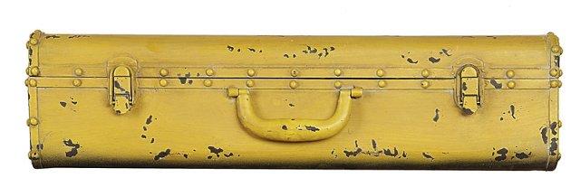 "24"" Suitcase Wall Shelf, Yellow"
