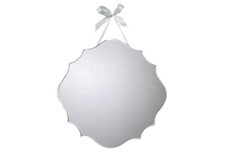 Beveled Mirror with Ribbon