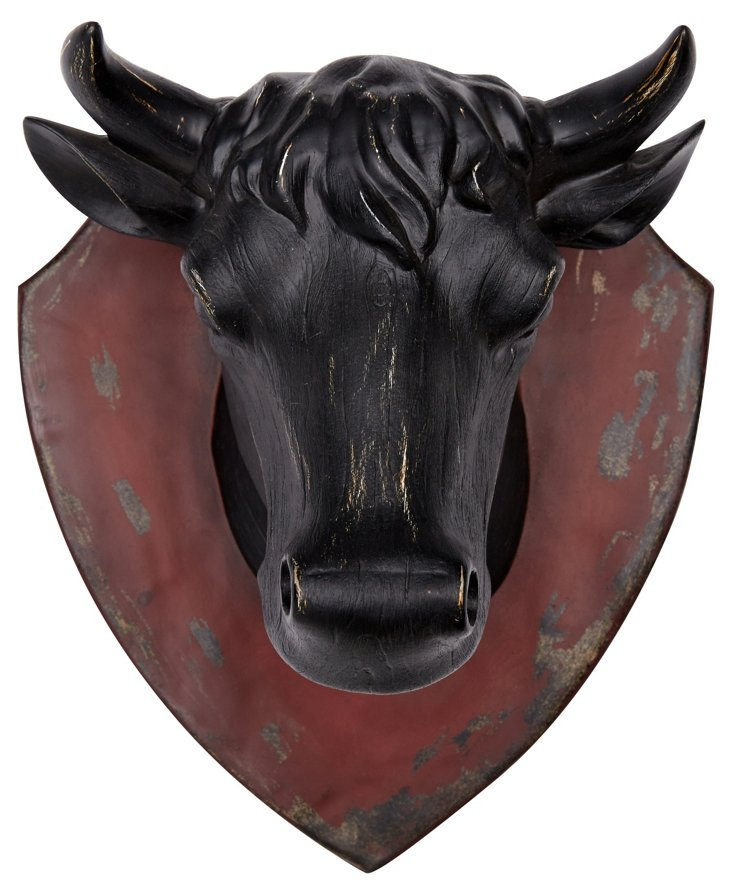 Weathered Cow Head Plaque
