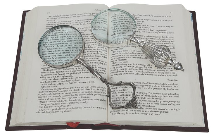 """3"""" Silver Magnifying Glass"""