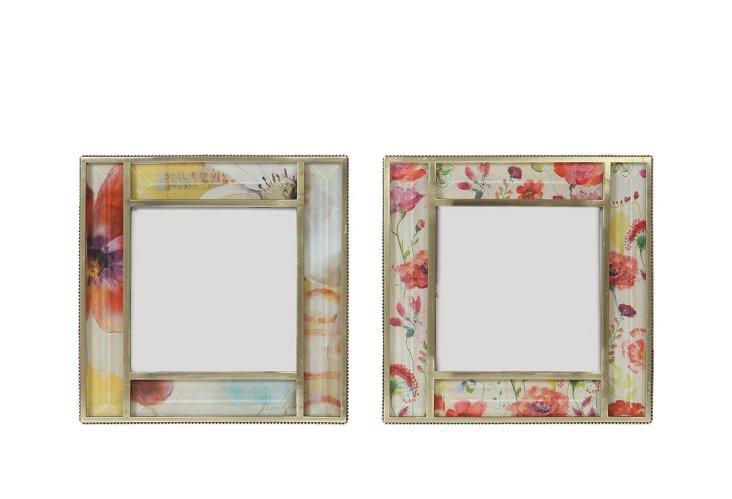 4x4 Floral Frames, Asst. of 2