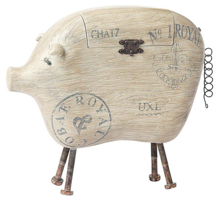 Pig Box w/ Metal Tail & Feet