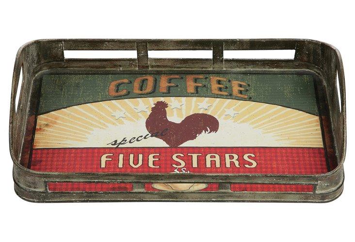 """Tin """"Coffee"""" Tray"""