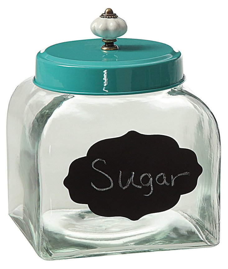"8"" Canister w/ Chalkboard Label"