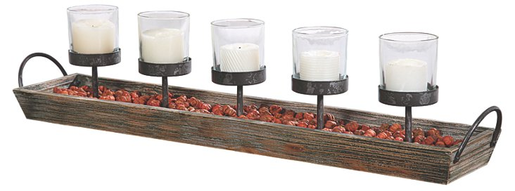 "30"" 5-Votive Holder, Brown"