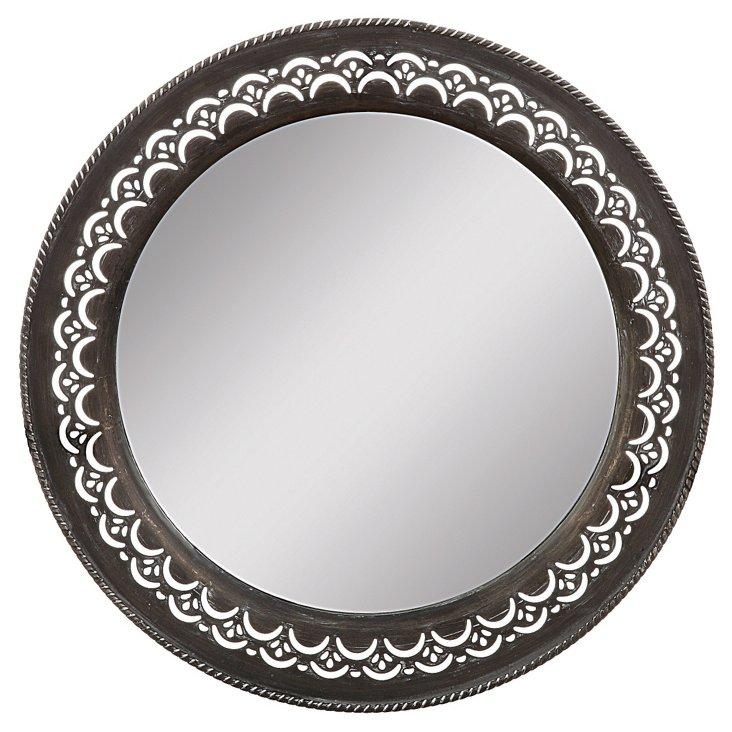 Round Metal Framed Mirror