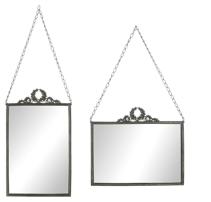 Metal Framed Mirror Reflection Set