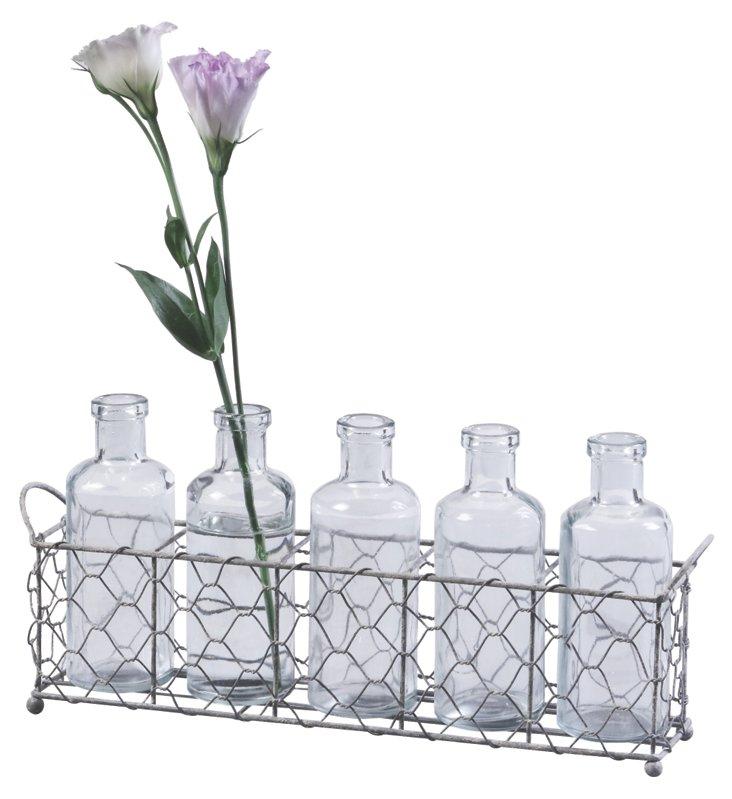 Glass Bottles & Tray