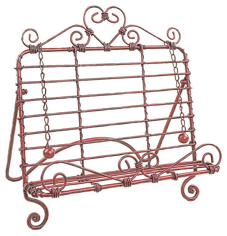 Scroll Book Holder, Red