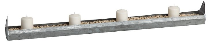 "39"" Chicken Feed Votive Holder, Gray"