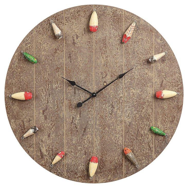 "24"" Fishing Lure Clock"