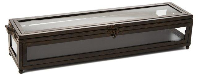 """17"""" Narrow Treasure Trove Box, Black"""
