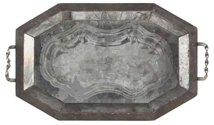"26"" Dowager Tray, Silver"