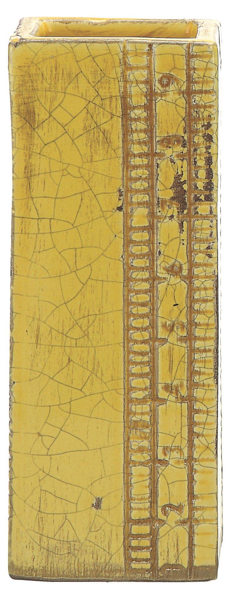 """8"""" Terracotta Ruler Vase"""