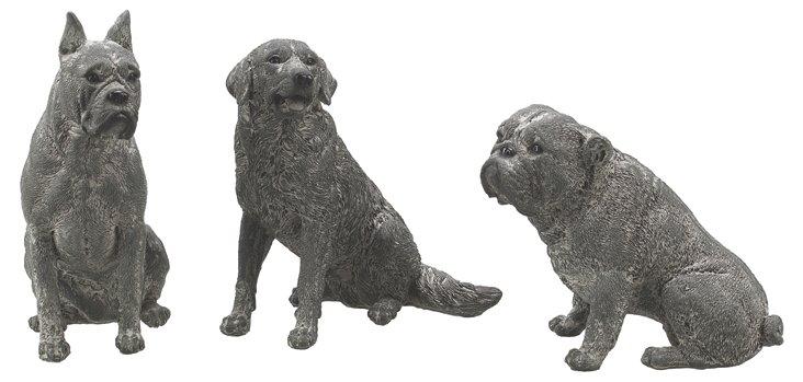 """S/3 5"""" Sitting Terrier Objets"""