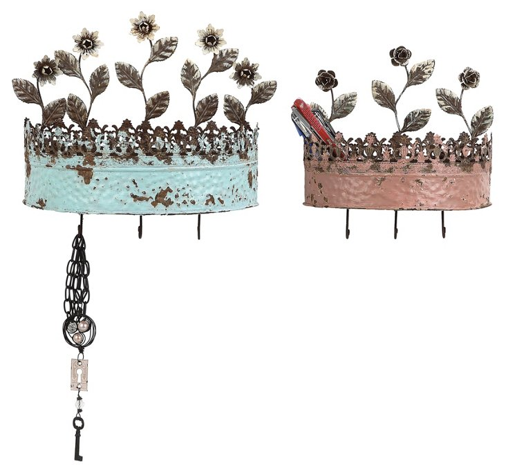 Crown Jewelry Holders, Asst. of 2