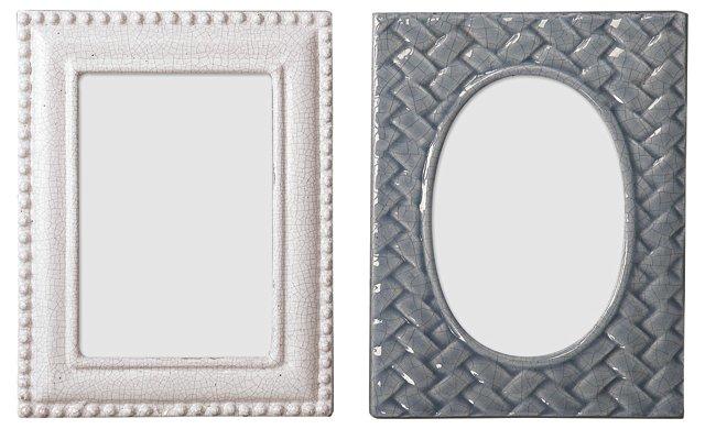 Asst. of 2 Crackle Frames, 4x6