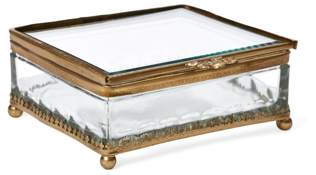 "7"" Glass Box with Sliding Lid"