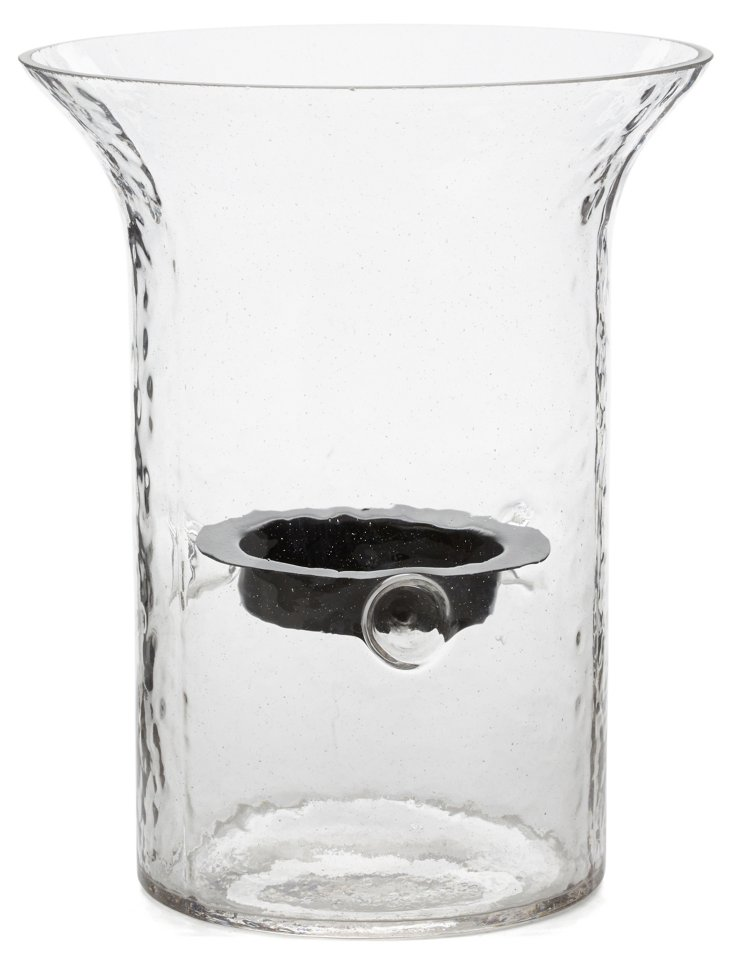 """8"""" Glass Pillar Holder"""