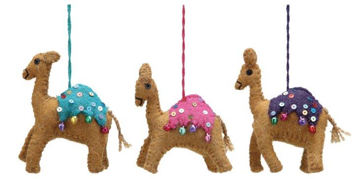 """5"""" Camel Ornaments, Asst. of 3"""