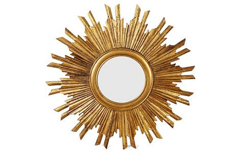 Piedmont Sunburst Wall Mirror, Gold