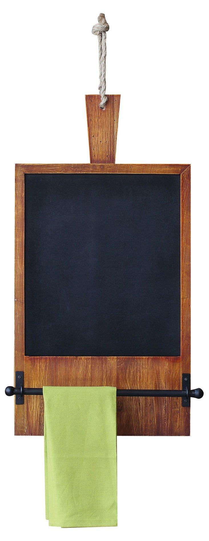 Bread Board Chalkboard w/ Towel Rack