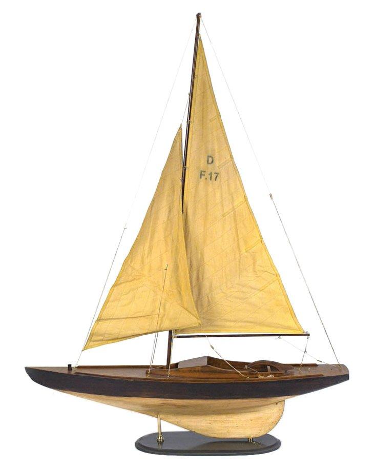 """53"""" Sailboat Model, Brown"""