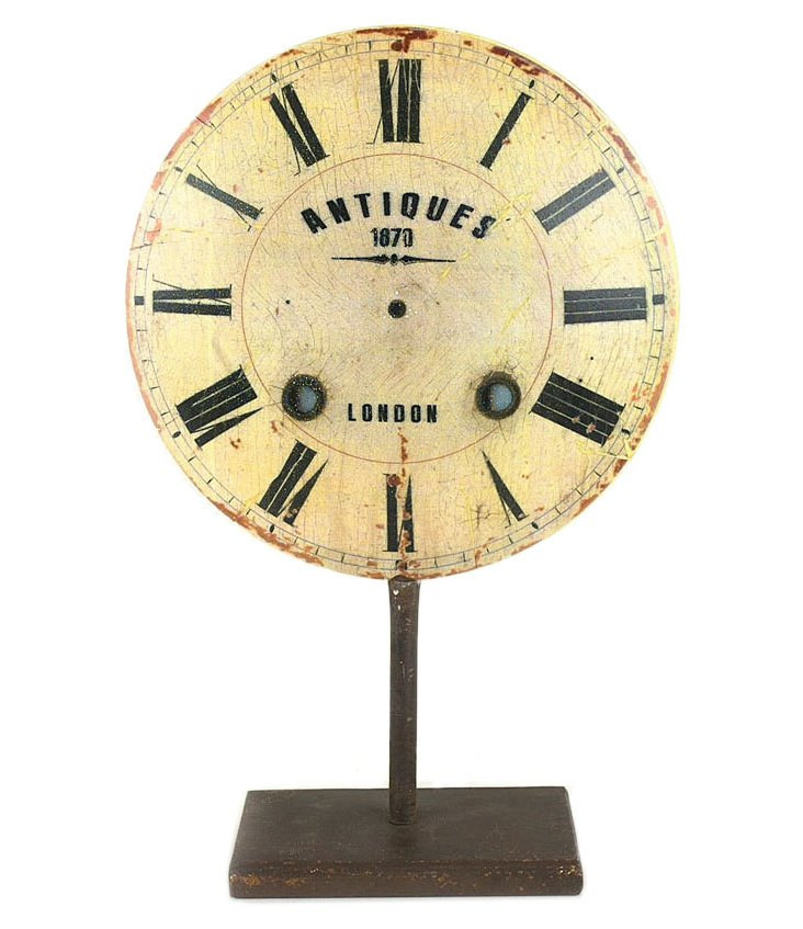 "12"" Clock Decoration on Stand"