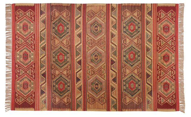 Darla Kilim Rug, Red/Multi
