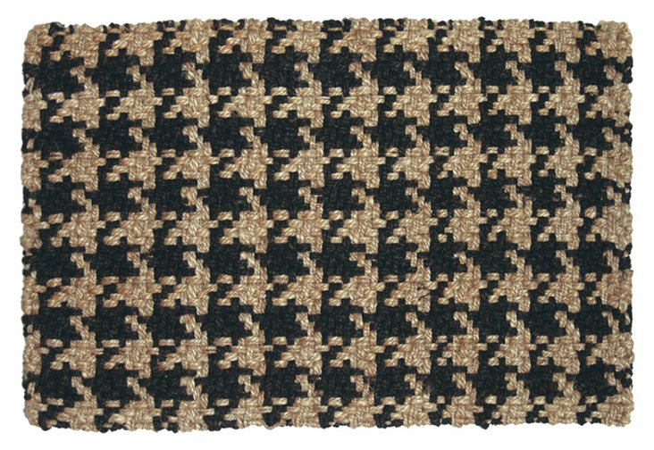 6'x9' Kelly Jute Rug, Black/Tan