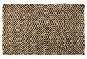 Herringbone Jute Rug, Gray/Natural