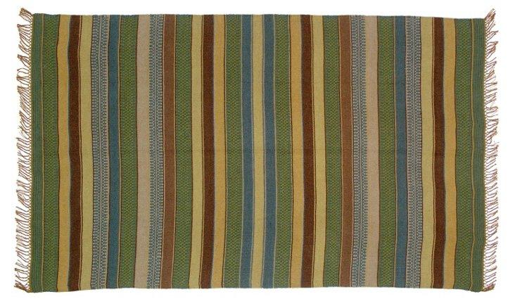 8'x10' Dakota Kilim Rug, Sage/Multi