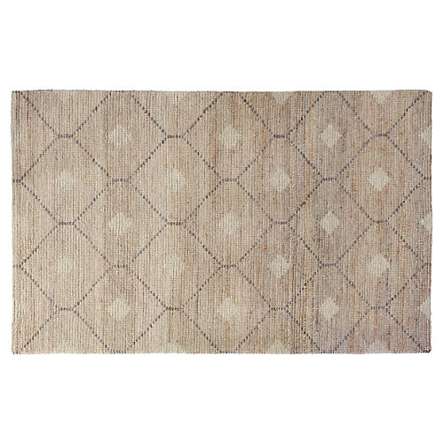 Ashby Wool-Blend Rug, Beige/Gray