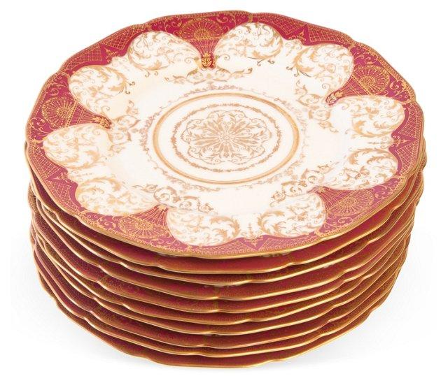 Antique Bavarian Plates, Set of 12