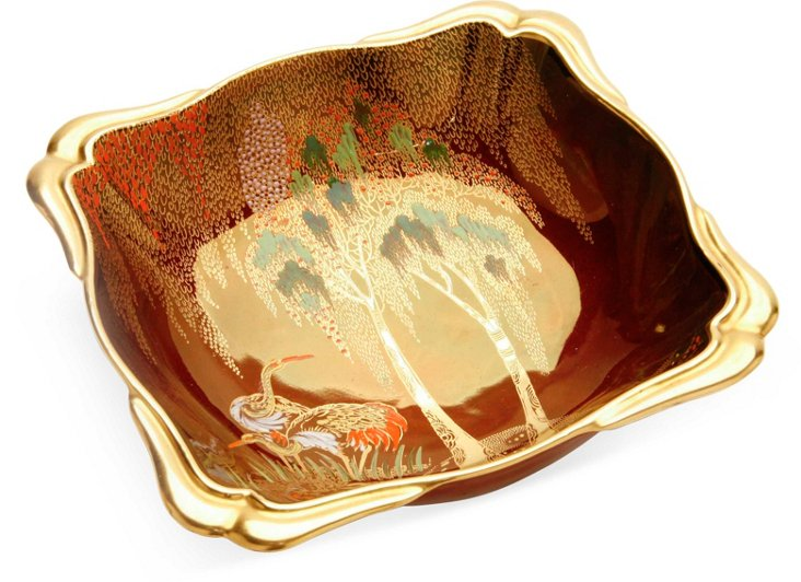 1930s Rouge Royale Crane Dish