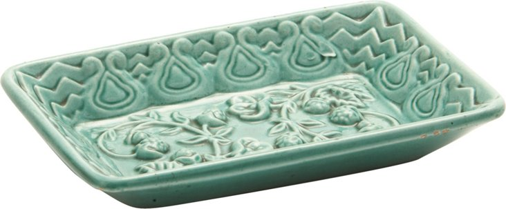 Green Relief Pin Tray